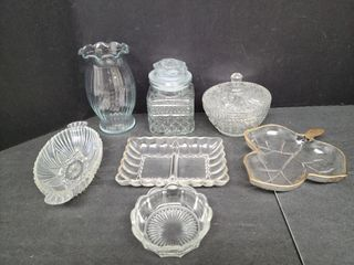 Assorted Pickle / Candy Dishes / Vase