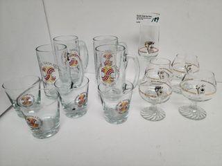 Celebrate Sask. & Olympic Glass Ware