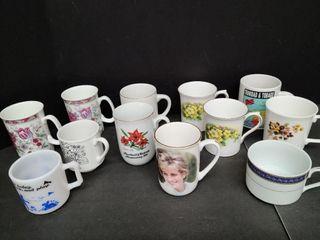 12 Assorted Coffee Cups (One Princess Diana)