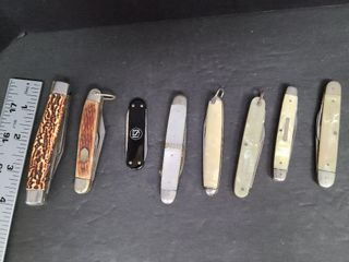 8 Assorted Jack Knives, Some Pearlized