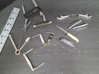 Pocket Knives, Tie Clip Pencils, Watch Fob, etc.
