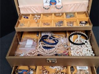 Assorted Ladies Jewelry and Box