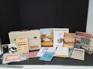 Vintage Watkins Case With Manuals & Magazines