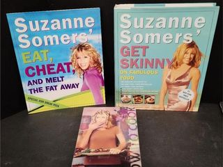 Assorted Cook Books Eat Suzanne Somers