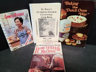4 Assorted Cook Books