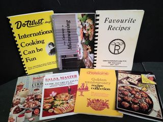 8 Assorted Cook Books