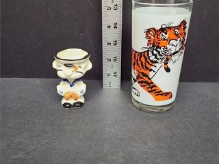 Popeye Egg Cup & Put A Tiger In Your Tank Glass
