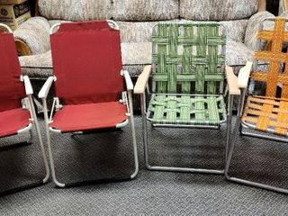 4 Vintage Lawn Chairs