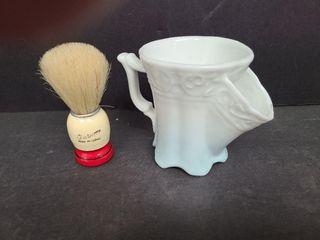 Shaving Brush & Shaving Cup