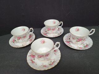 4 Royal Albert Lavender Rose tea Cups & Saucers