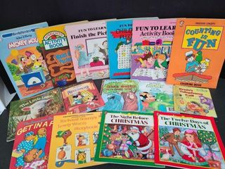 15 Slightly Used Kids Story & Coloring Books