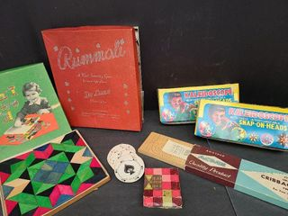Vintage Rummoli, Kaleidoscopes, Round Cards, Crib