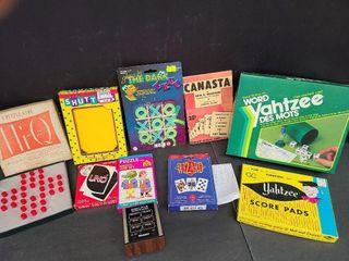 Misc. Games, Uno, Wizzard, Canasta Book, Yahtzee