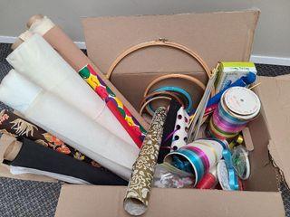 Material, Wrap, Ribbon, Knitting Needles, Hoops