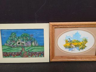 2 Small Oil Paintings One by Irene Paterson 2003