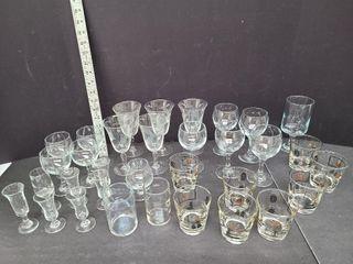 Liqueur, Wine & Assorted Drink Glasses