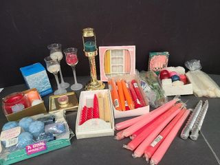 Misc. Candle Lot & Holders