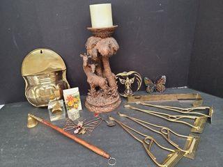Brass, Glass, Resin, Misc. Lot
