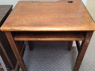 Nice Antique Wood School Desk