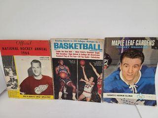 3 Vintage Sports Magazines, 1 With Gordie Howe