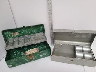 Smaller Resin Tackle Box & Metal Money Box