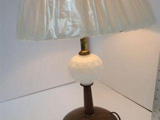 Quilted Milk Glass Bedroom Lamp