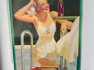 Hard To Find Large Old 1942 Coke Poster