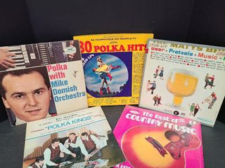 5 Old Time Country & Polka Records