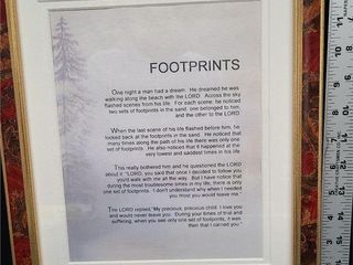 Footprints Wall Picture