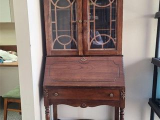 Antique Wood Cabinet / Secretaries Desk
