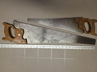 Large and Smaller Hand Saw