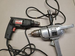 Two Skil Electric Plug In Drills