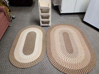 2 Floor Rugs & 4 Tier Plastic Storage Bins