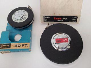 2 Lufkin Measuring Tapes 50FT & 100FT