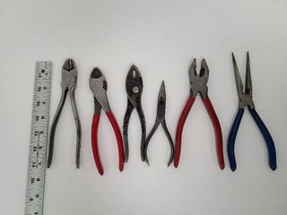 2 Cutters, 2 Needle Nose Pliers, 2 Pliers