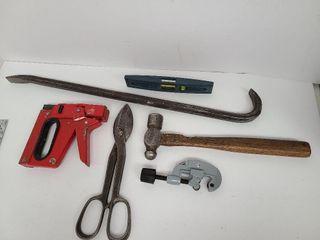 Tools- Pipe Cutter, Hammer, Tin Snips, Stapler,etc