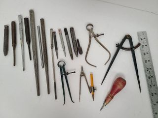 Various Hole Punches & Measuring Tools