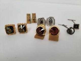 4 Sets Dress Cufflinks & 2 Tie Pins