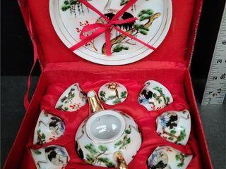 Chinese Miniature Tea Set In A Box NG Kang Tailor