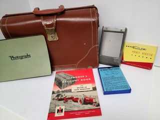 Vintage Briefcase With Listed Items