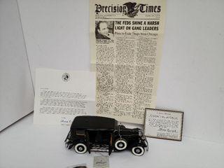 "Franklin Mint Precision Model ""Al Capone Car"""