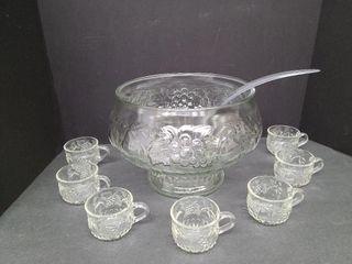 Punch Bowl / Cups / Ladle