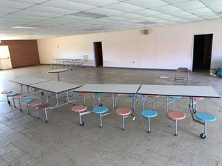3 Mobile Cafeteria Tables