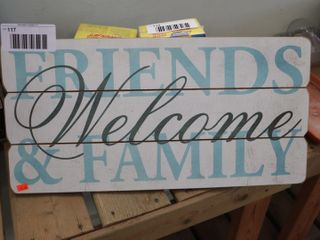 WElCOME WOOD SIGN   24  X 12