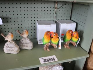 GROUP OF BIRD ORNAMENTS