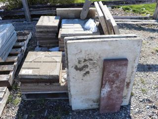 SKID OF ASSORTED PATIO STONES   USED