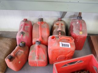 GROUP OF JERRY CANS