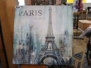 PARIS FRANCE CANVAS   39 1 2  X 39 1 2