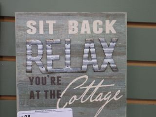RElAX WOODEN SIGN   8