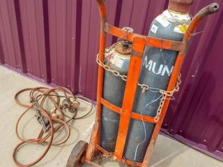 Oxygen Acetylene bottles  tordh ang guages with ca